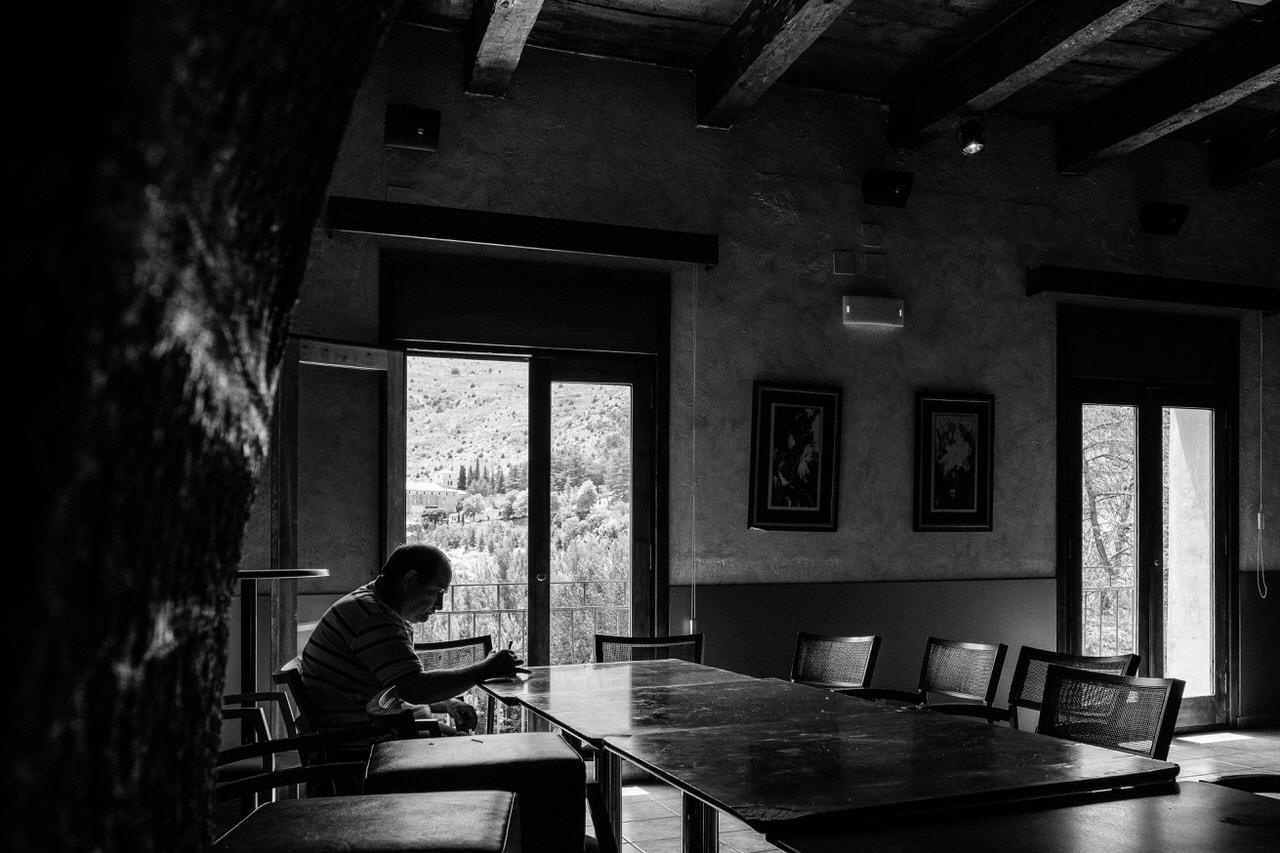 """Café solo"" por Jesús Soriano. X-T2 + XF 16mm F1.4."