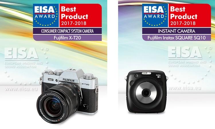 Premios EISA 2017 para Fujifilm X-T20 e Instax SQ10.