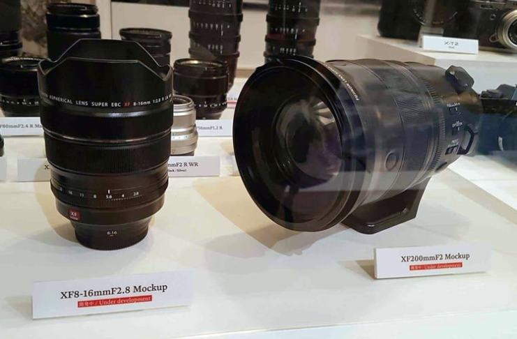 XF 8-16mm y XF 200mm.