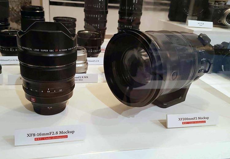 Prototipos de los XF 8-16mm F2.8 y XF 200mm F2.