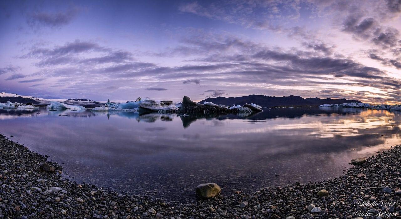 """""""Islandia, atardecer"""", por Carles Artigas. X-T1 + Samyang 12mm f/2."""