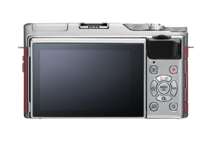 Vista trasera de la Fujifilm X-A5.