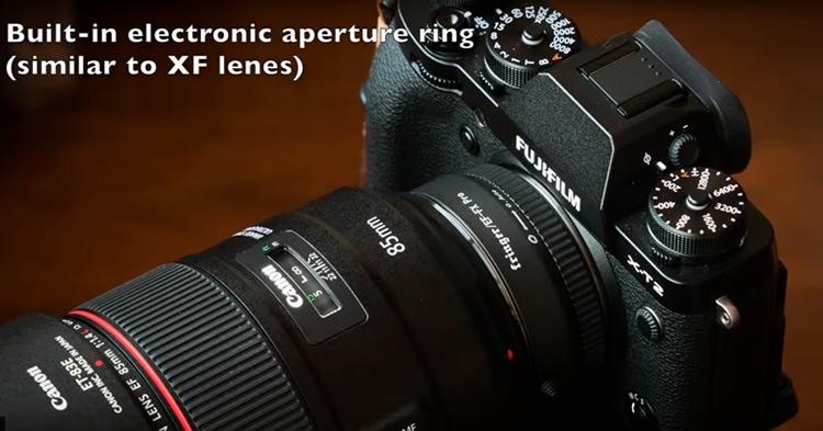 Fujifilm X-T2 con adaptador Fringer y Canon EF 85mm f/1.2 L.