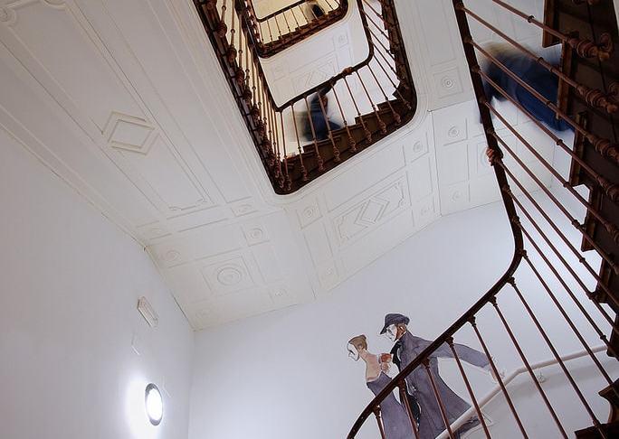 """Mención especial: """"Historia de una escalera"""" por Teresa Clavijo. Fujifilm X-T2 + Samyang 12mm F2."""