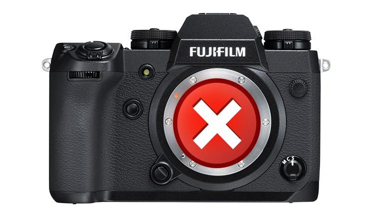 Errores en Fuji X-H1.