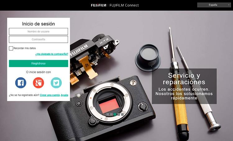 Nueva web de registro de garantía Fujifilm-Connect