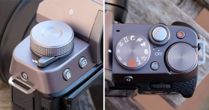 Controles superiores de la Fujifilm X-T100.