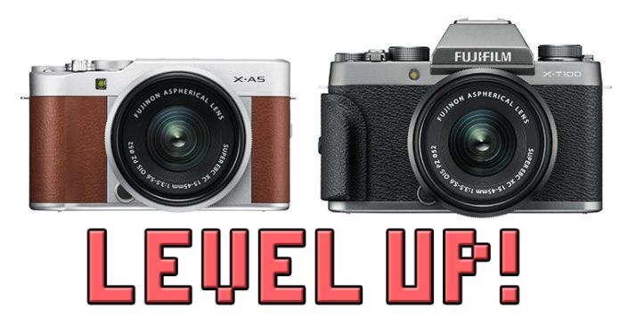 Actualización de firmware de Fuji X-T100 y X-A5.