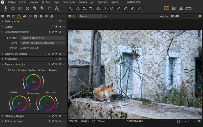 Capture One Pro 12 Fujifilm con simulaciones de películas integradas.
