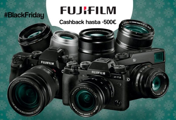 Doble Cashback de Fujifilm en Black Friday 2018.