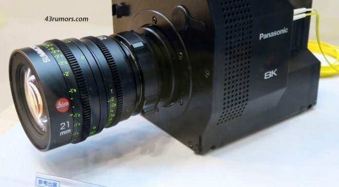 La supuesta nueva videocámara 8k de Panasonic con sensor orgánico.