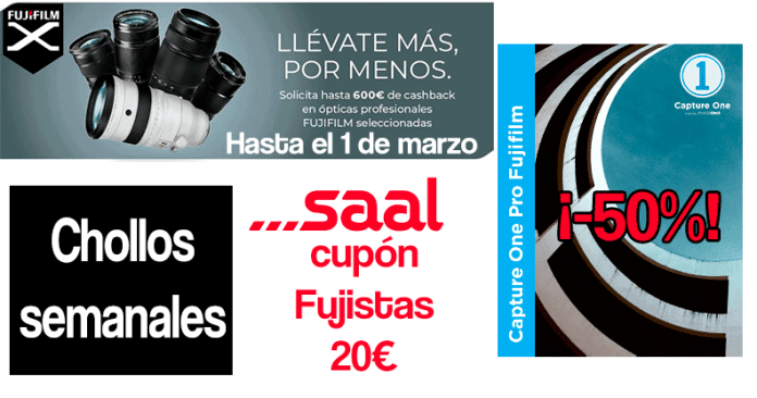 Chollos semanales: Capture One Fuji, Cashback y Saal Digital.