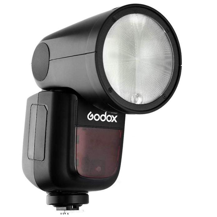 Godox V1 flash circular.