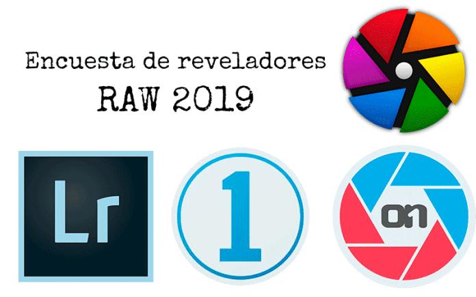 Encuesta sobre software de revelado RAW 2019.