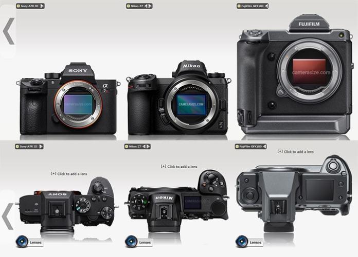 Fuji GFX 100 frente a Sony A7R III y Nikon Z7.