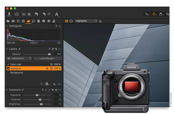 Capture One 12.0.4, compatible con la GFX 100.