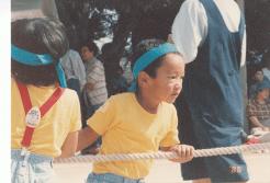 年中さんのときの綱引きの様子
