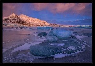 Frozen Lagoon in Iceland; X-T1 by jack graham