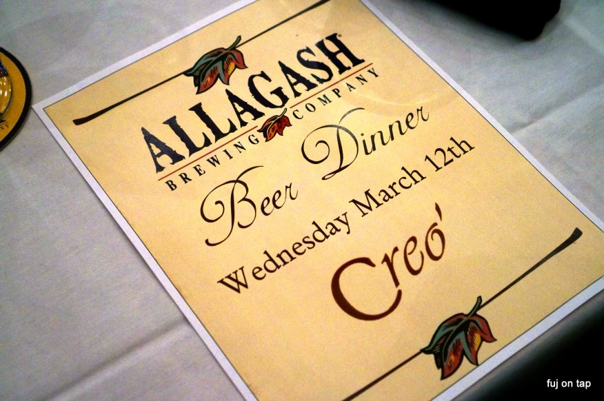 Allagash Beer Dinner at Creo