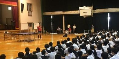 s-西福岡中学校での様子