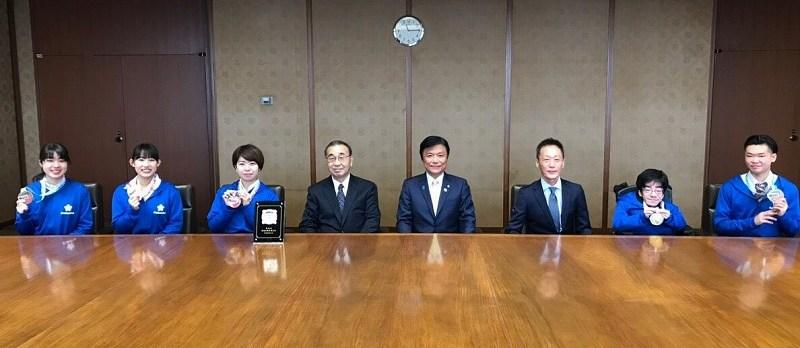 小川県知事訪問の様子