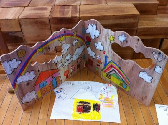 幼稚園・木工・ついたて