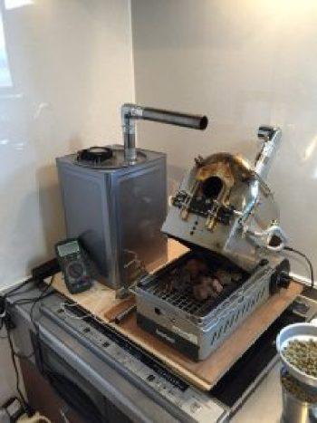 トレンドアイ焙煎機カスタム 排気装置