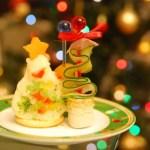 クリスマスパーティーの料理の持ち寄りに適したメニューと盛り付け