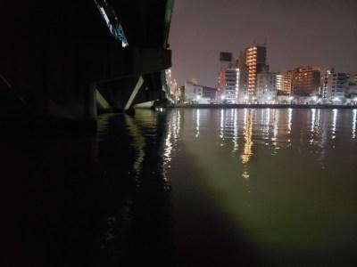那珂川でシーバス。競艇場側も最高!!