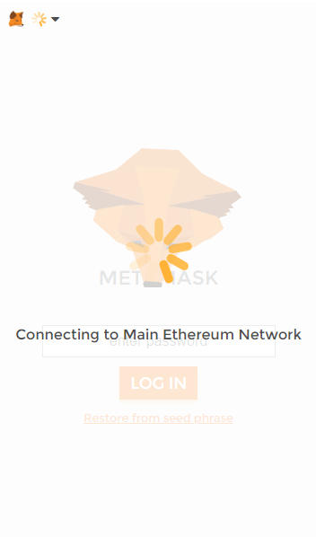 Metamask connecting to main ethereum network