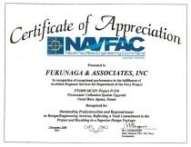 2008 NAVFAC Certificate of Appreciation
