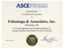2013 ASCE Certificate of Recognition