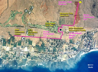 Extent of the Kihei Effluent Reuse System