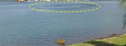 Plume Over Waterline Break