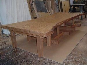 栗一枚板リビングテーブル
