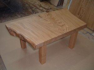 栗一枚板小テーブル