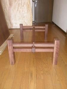 くさび留め4本脚の座卓用