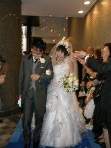 主人の姪の結婚式
