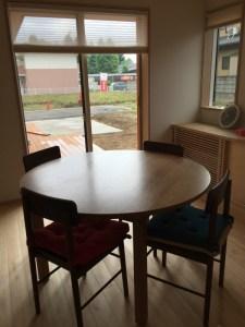 無垢 手作り 丸テーブル