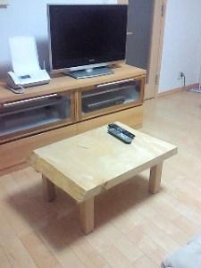 栃一枚板小テーブル