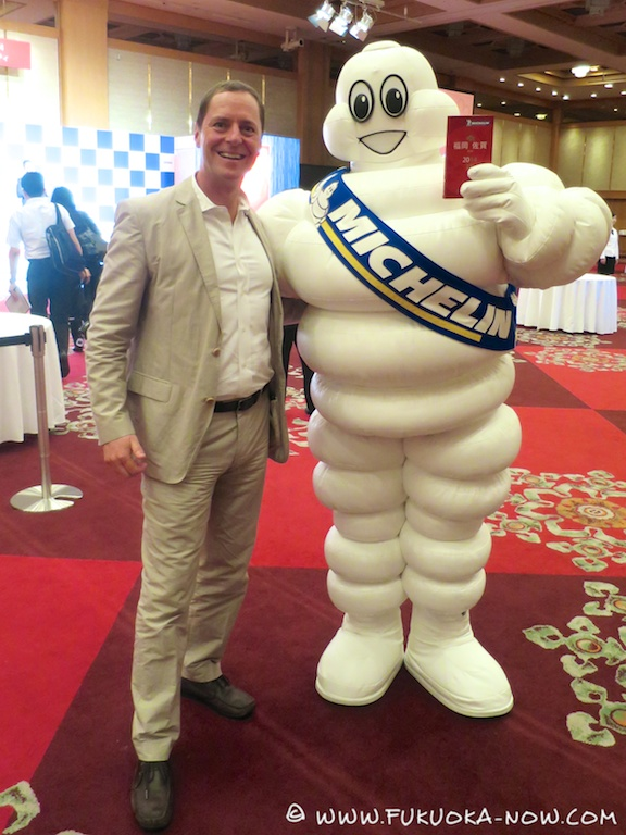 Nick Szasz from Fukuoka Now meets the Michelin man - and later commented