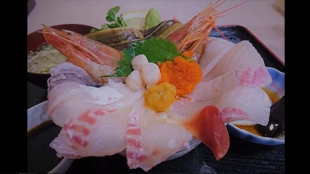 漁師直送のお店 立石の鮑と海鮮丼
