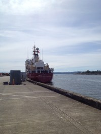 the CCGS Sir Wilfrid Laurier at Ogden Point