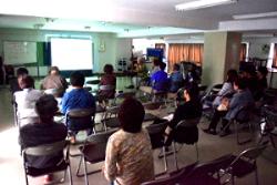約20名の参加。和光市やふじみの市からの参加者も。この写真は「和光3・11を忘れない実行委員会」事務局の斉藤さんが撮影。
