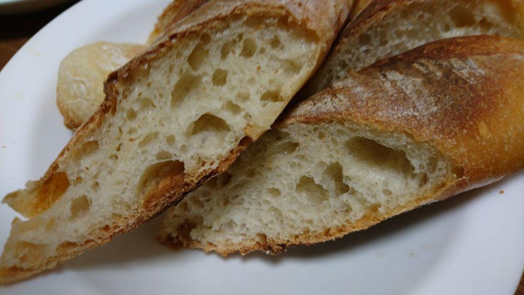 手作りしたフランスパン