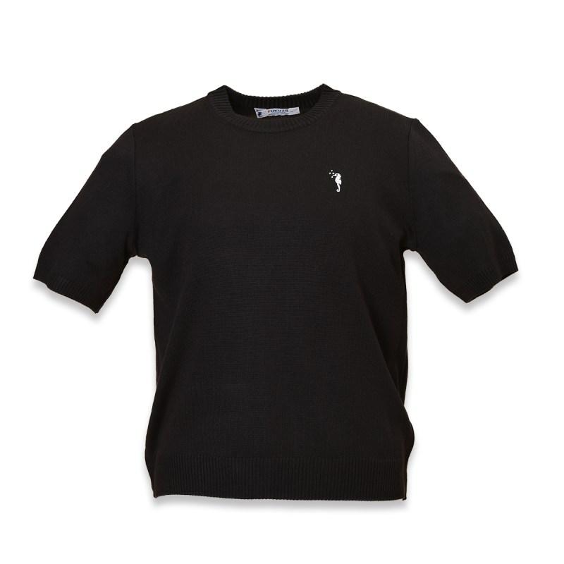 ラルゴ クルーセーター半袖 紺