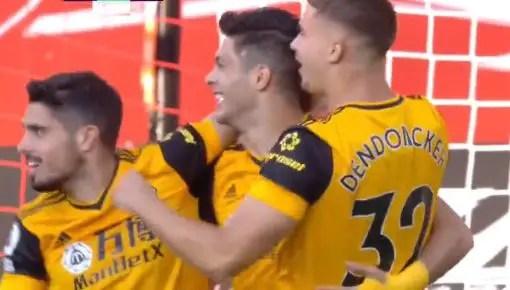 Repetición Gol de Raúl Jiménez Sheffield vs Wolves