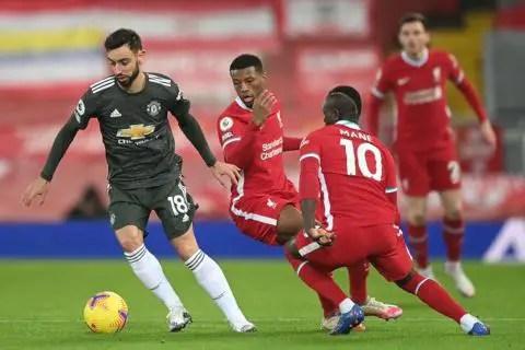 Liverpool vs Manchester United 0-0 Premier League 2020-2021