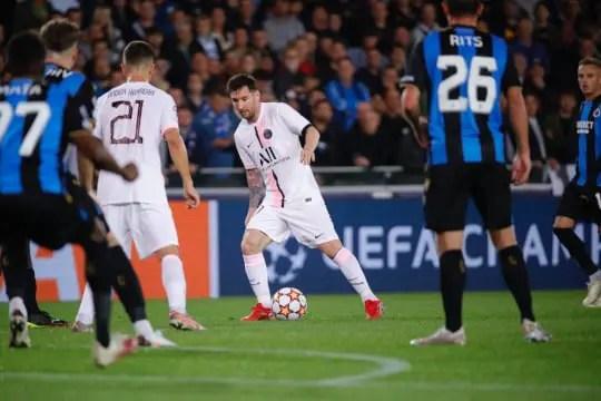 Brujas vs PSG 1-1 Liga de Campeones 2021-2022