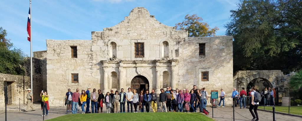 Brazos Valley Chapter members visit the Alamo